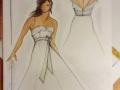 RITA COSTUMISTA Desenho Vestido Noiva Sara